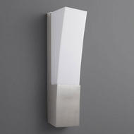 Oxygen 3-512-24 Crescent Contemporary Satin Nickel LED 14 Wall Sconce