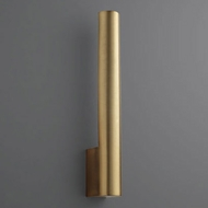 Oxygen 3-520-40 Mies Contemporary Aged Brass LED Wall Light Sconce
