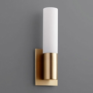 Oxygen 3-528-140 Magneta Contemporary Aged Brass LED Wall Sconce Light