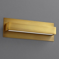 Oxygen 3-532-40 Alcor Contemporary Aged Brass LED Wall Sconce Lighting