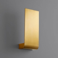 Oxygen 3-535-40 Halo Contemporary Aged Brass LED Wall Sconce Lighting