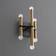 Oxygen 3-584-1540 Nero Contemporary Black and Aged Brass LED Lamp Sconce