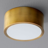 Oxygen 3-600-40 Peepers Modern Aged Brass LED Overhead Light Fixture