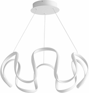 Oxygen 3-61-6 Cirro Contemporary White LED 28  Hanging Lamp