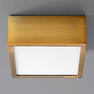 Oxygen 3-610-40 Pyxis Modern Aged Brass LED Ceiling Light
