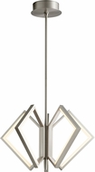 Oxygen 3-6142-24 Acadia Contemporary Satin Nickel LED 25  Drop Ceiling Lighting