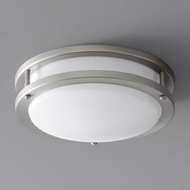 Oxygen 3-618-24 Oracle Contemporary Satin Nickel LED 10.5  Ceiling Light Fixture