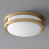Oxygen 3-618-40 Oracle Modern Aged Brass LED 10.5  Flush Lighting