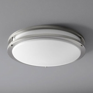 Oxygen 3-619-24 Oracle Contemporary Satin Nickel LED 18  Flush Mount Light Fixture