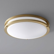 Oxygen 3-619-40 Oracle Modern Aged Brass LED 18  Flush Mount Lighting Fixture