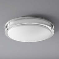 Oxygen 3-620-14 Oracle Contemporary Polished Chrome LED 18  Flush Ceiling Light Fixture