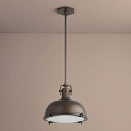 Oxygen 3-6203-22 Vida Retro Oiled Bronze LED Pendant Light Fixture