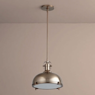 Oxygen 3-6203-25 Vida Retro Satin Copper LED Hanging Pendant Lighting