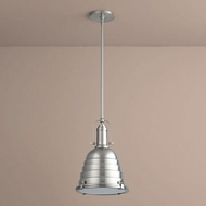 Oxygen 3-6204-24 Sigma Retro Satin Nickel LED Pendant Hanging Light
