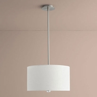 Oxygen 3-638-24 Echo Satin Nickel LED 18  Drum Lighting Pendant