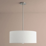 Oxygen 3-639-24 Echo Satin Nickel LED 24  Drum Hanging Lamp
