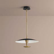 Oxygen 3-646-1540 Spacely Contemporary Black and Aged Brass LED 18 Hanging Light Fixture