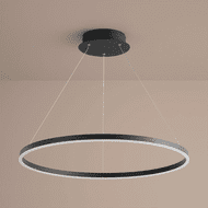 Oxygen 3-65-15 Circulo Contemporary Black LED 32 Drop Ceiling Lighting