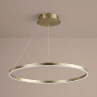 Oxygen 3-65-40 Circulo Contemporary Aged Brass LED 32 Ceiling Light Pendant
