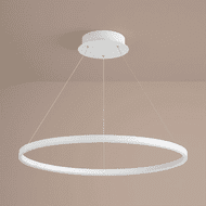 Oxygen 3-65-6 Circulo Contemporary White LED 32 Ceiling Pendant Light