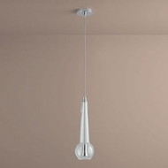 Oxygen 3-650-14 Comet Contemporary Clear Glass LED Mini Hanging Pendant Lighting
