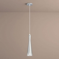Oxygen 3-651-1314 Cornet Contemporary Smoke Ombre LED Mini Pendant Hanging Light