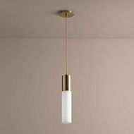 Oxygen 3-653-140 Magnum Contemporary Aged Brass LED Mini Lighting Pendant