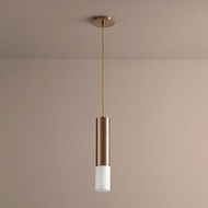 Oxygen 3-654-125 Opus Contemporary Satin Copper LED Mini Hanging Pendant Lighting