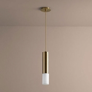 Oxygen 3-654-140 Opus Contemporary Aged Brass LED Mini Pendant Hanging Light