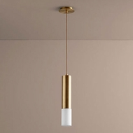 Oxygen 3-654-40 Opus Modern Aged Brass LED Mini Drop Ceiling Lighting