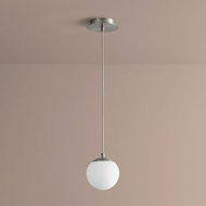 Oxygen 3-670-24 Luna Modern Satin Nickel LED 6  Mini Drop Ceiling Light Fixture