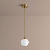 Oxygen 3-670-40 Luna Contemporary Aged Brass LED 6  Mini Drop Lighting Fixture