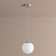 Oxygen 3-671-24 Luna Modern Satin Nickel LED 8  Mini Lighting Pendant