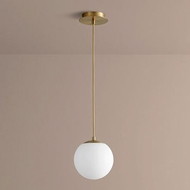 Oxygen 3-671-40 Luna Contemporary Aged Brass LED 8  Mini Pendant Lamp