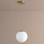Oxygen 3-672-40 Luna Contemporary Aged Brass LED 10  Mini Pendant Lighting Fixture
