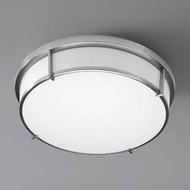 Oxygen 3-689-40 iO Contemporary Aged Brass LED Ceiling Light Fixture