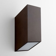Oxygen 3-701-22 Uno Contemporary Oiled Bronze LED Exterior Wall Sconce
