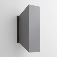 Oxygen 3-702-16 Duo Modern Grey LED Outdoor Wall Lamp