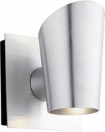 Oxygen 3-732-16 Pilot Contemporary Brushed Aluminum LED Outdoor Lamp Sconce