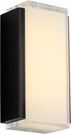 Oxygen 3-743-15 Helio Contemporary Black LED Exterior 9 Wall Light Sconce