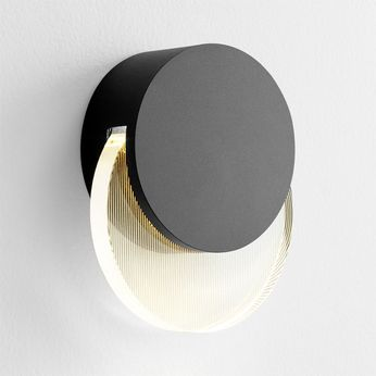 Oxygen 3-753-15 Pavo Contemporary Black LED Outdoor 6 Wall Lighting Sconce
