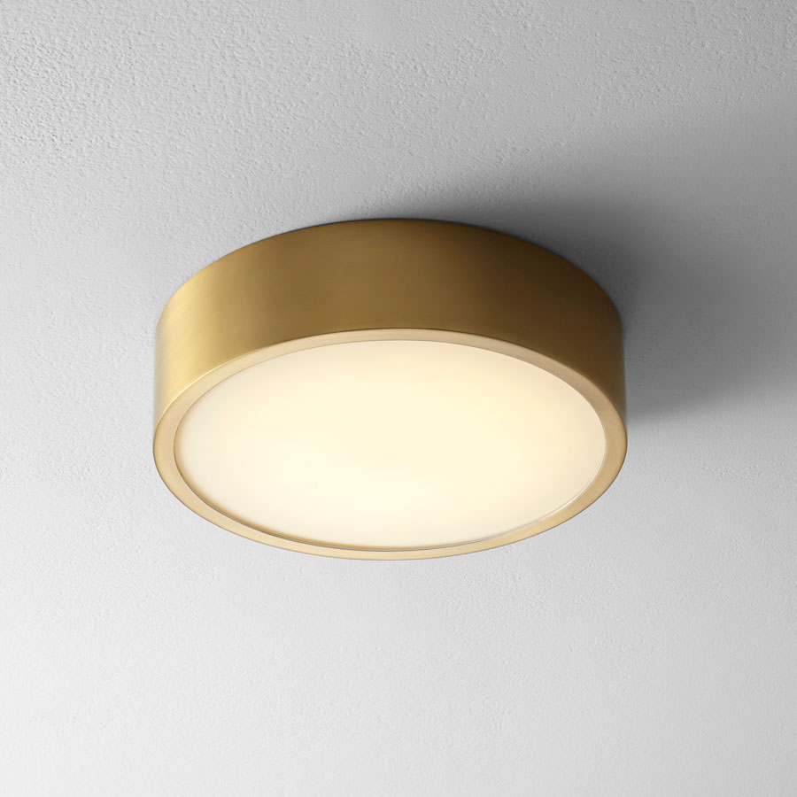Oxygen 32 601 40 Peepers Modern Aged Brass Led Flush Mount Ceiling Light Fixture Oxy 32 601 40