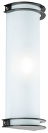 PLC 1006-ORB Classic Chevron 16 inch High Acid Frost Glass Bathroom Light in Oil Rubbed Bronze