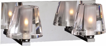 PLC 1022-PC Cheope Contemporary Polished Chrome Halogen 2-Light Bath Lighting Fixture