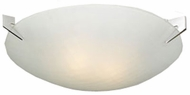PLC 12144-PC Contempo 2 Light Contemporary Flushmount Ceiling Fixture