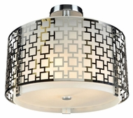 PLC 12159-PC Ethen Polished Chrome Modern Semi-Flush Lighting