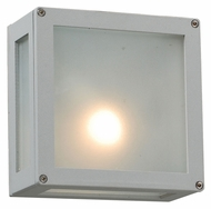 PLC 1309-SL Bandero Silver Exterior Wall Lighting Fixture - Contemporary