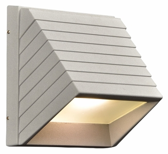 PLC 1311-SL Le Doux Outdoor Silver Finish 7 Inch Tall LED Light Sconce