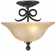 PLC 13316-ORB Rio Bravo Semi-Flush Ceiling Light in Oil Rubbed Bronze