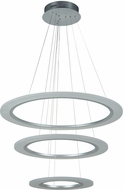 PLC 14842AL Halo Modern Aluminum LED Lighting Pendant